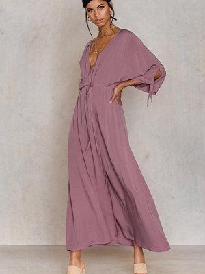 NA-KD Trend Tied Sleeve Coat Dress