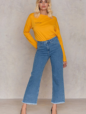 NA-KD Trend Raw Hem Cropped Jeans