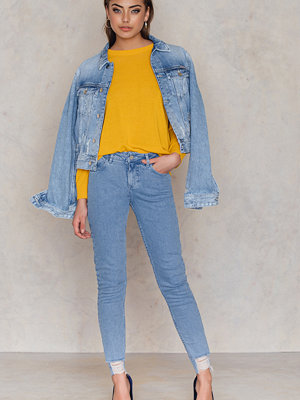 Jeans - NA-KD Trend Ripped Bottom Highwaist Jeans