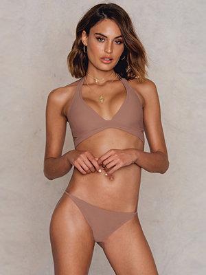 NA-KD Swimwear Bikinitrosor Med Tunna Band beige