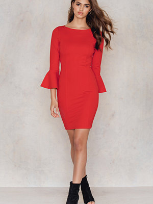 NA-KD Frill Sleeve Dress