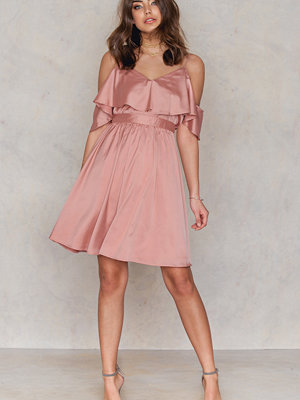 NA-KD Party Cold Shoulder Frill Sleeve Dress