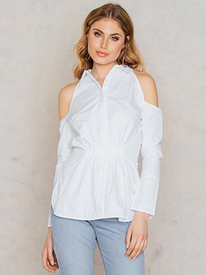 Lavish Alice Cold Shoulder Gathered Waist Shirt
