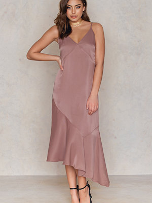 Tranloev Deep V Asymmetric Cut Dress - Festklänningar