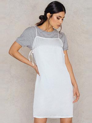 NA-KD Side Knot Slip Dress