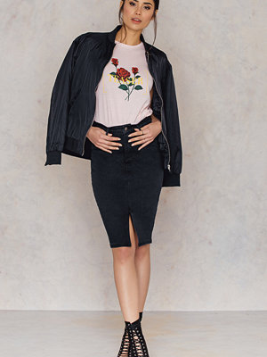 Kjolar - NA-KD Split Front Denim Skirt