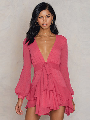 Festklänningar - For Love & Lemons Tarta Long Sleeve Mini Dress