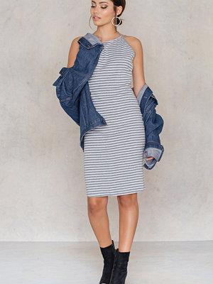 Rut & Circle Aya Stripe Rib Dress grå multicolor