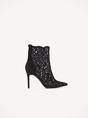 NA-KD Shoes Lace Mid Heel Boot