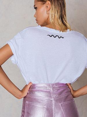 T-shirts - NA-KD Trend Snake Neck Oversize Tee
