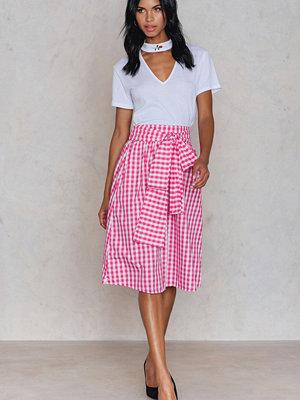 Trendyol Gingham Tie Waist Skirt