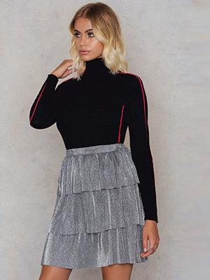 NA-KD Party Layer Metallic Mini skirt