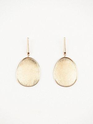 Tranloev smycke Hanging Oval Pleating Earrings guld