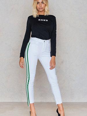 NA-KD Trend Double Stripe Side Panel Jeans
