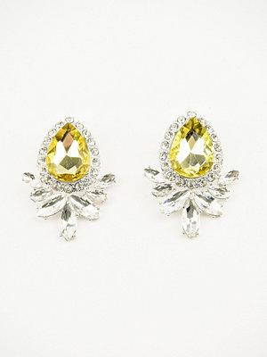 NA-KD Accessories örhängen Yellow Crystal Earrings