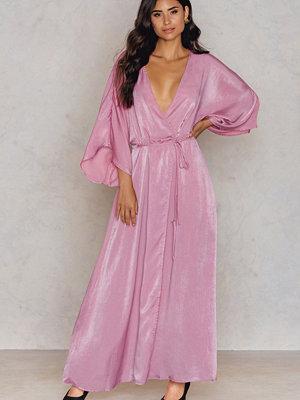 NA-KD Party Satin Coat Dress - Midiklänningar