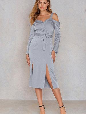 Lavish Alice Cold Shoulder Double Split Dress