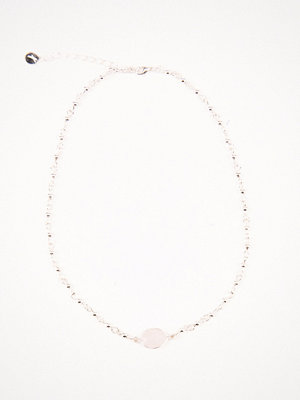 Tranloev smycke Stone Choker rosa silver
