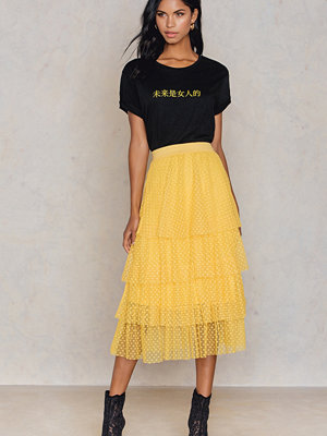 NA-KD Trend Dotted Mesh Skirt