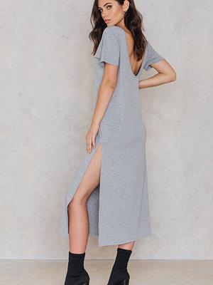 NA-KD Deep Back Ankle Dress