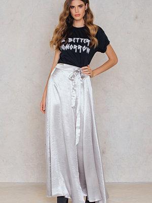 SheIn Faux Satin Wrap Skirt