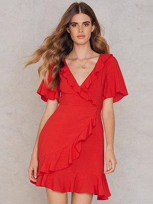 SheIn Frill Trim Wrap Mini Dress