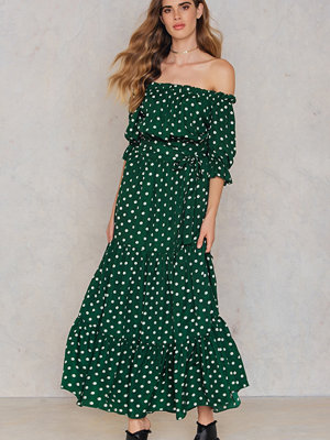 SheIn Bardot Neckline Maxi Dress