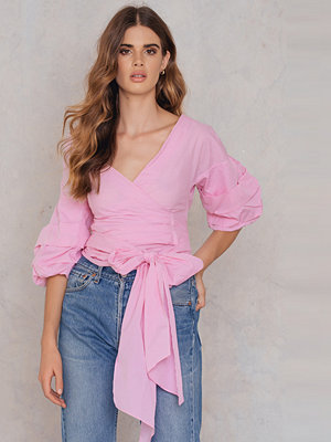 Blusar - SheIn Ruched Sleeve Blouse - Blusar