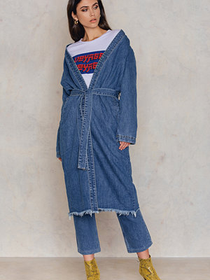 NA-KD Trend Denim Teddy Coat
