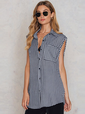 Boohoo Sleeveless Gingham Shirt - Vardag
