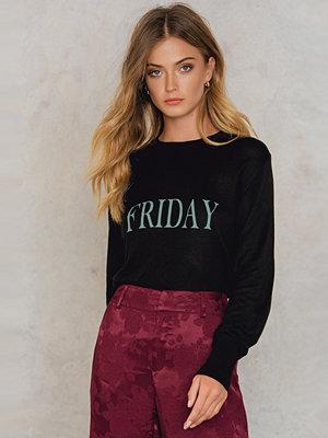 NA-KD Weekday Knitted Sweater svart