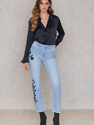 NA-KD Trend Black Embroidery Jeans
