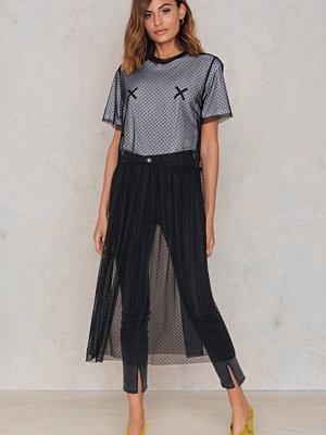 NA-KD Trend Dotted Mesh Midi Dress