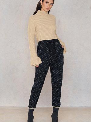Love&Divine svarta mönstrade byxor Love 116 Pants
