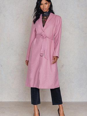 NA-KD Pink Coat - Kappor
