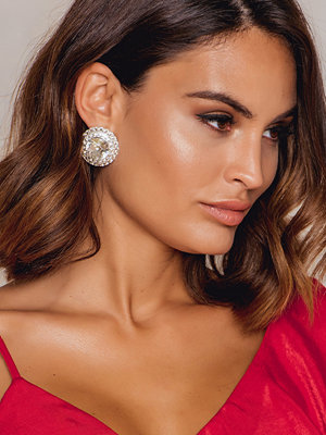 NA-KD Accessories örhängen Big Rhinestone Button Earrings