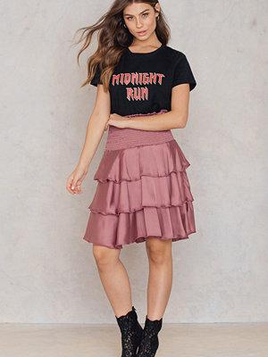 NA-KD Party Smock Satin Mini Skirt