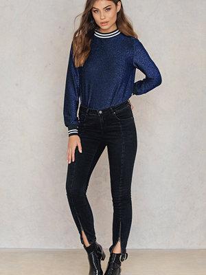 Rut & Circle Hanne zip jeans svart