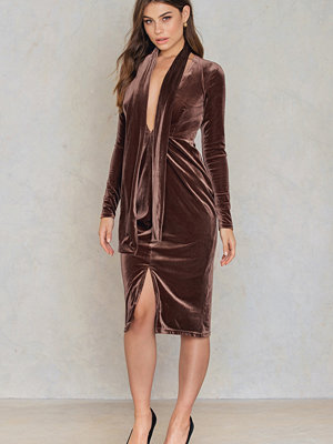 True Decadence Velvet Front Slit Dress