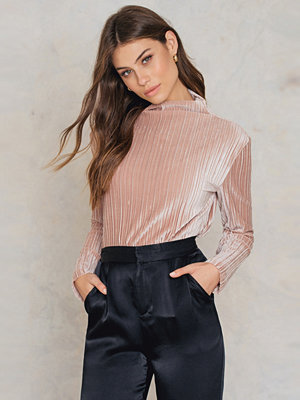 Minkpink Pleated Velvet Top