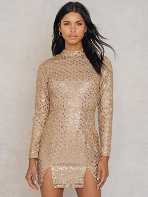 Glamorous Front Slit Sequin Dress