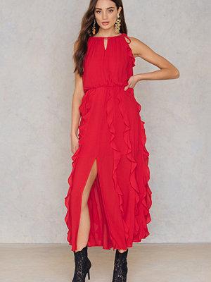 Moon River Ruffle Maxi Dress