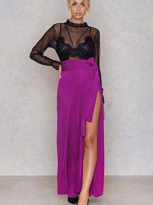 Boohoo Obi Tie Split Maxi Skirt