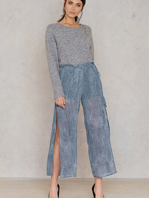 Moon River omönstrade byxor Wide Slit Pant