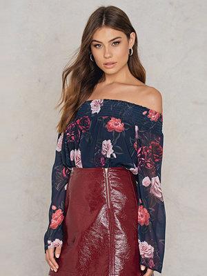 NA-KD Boho Off Shoulder Floral Print Top multicolor