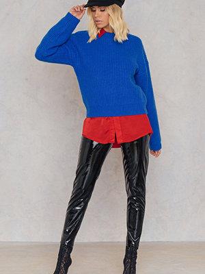 Glamorous svarta byxor Patent Straight Pants svart