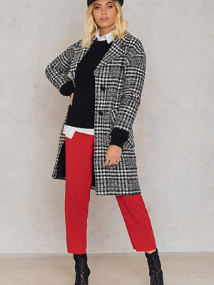 Trendyol Checked Wide Collar Coat