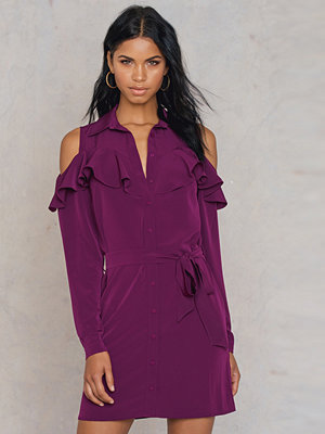 Trendyol Cold Shoulder Frill Shirt Dress