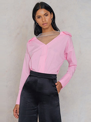 Trendyol Deep Shoulder Shirt rosa