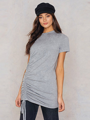 Boohoo Rouched Side T-Shirt Dress